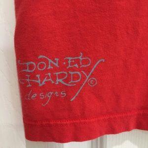 Ed Hardy Tops - ED HARDY Red Bird & Butterfly Short Sleeve Tee